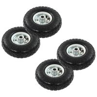 vidaXL Sack Truck Wheels 4 pcs Rubber 4.10/3.50-4 (260x83)