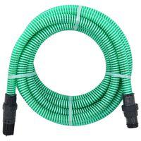 vidaXL Suction Hose with PVC Connectors 4 m 22 mm Green