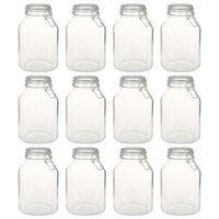 vidaXL Glass Jars with Lock 12 pcs 3 L