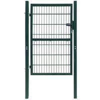 vidaXL Fence Gate Steel 103x250 cm Green