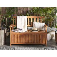 Acacia Wood Garden Bench with Storage 120 cm SOVANA
