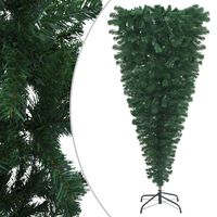 vidaXL Upside-down Artificial Christmas Tree with Stand Green 180 cm