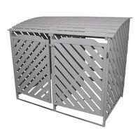 Wheelie Bin Storage Shed Double Wooden Dustbin Store Garden Outdoor
