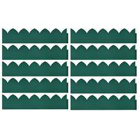 vidaXL Lawn Edgings 10 pcs Green 65x15 cm PP