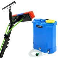 MAXBLAST Window Water Fed Backpack 16L & Cleaning Telescopic Pole 24ft