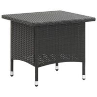 vidaXL Tea Table Black 50x50x47 cm Poly Rattan