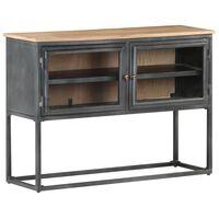 vidaXL Sideboard Grey 100x30x70 cm Solid Acacia Wood