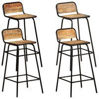 vidaXL Bar Chairs 4 pcs Solid Mango Wood