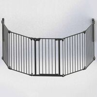 Noma 5-Panel Safety Gate Modular Metal Black 94238