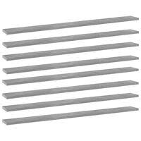vidaXL Bookshelf Boards 8 pcs Concrete Grey 100x10x1.5 cm Chipboard
