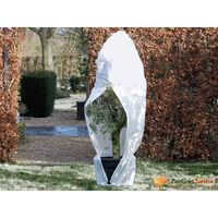 Nature Winter Fleece Cover with Zip 70 g/sqm White 1.5x1.5x2 m