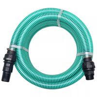 vidaXL Suction Hose with Connectors 4 m 22 mm Green