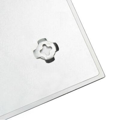 vidaXL Wall Mounted Magnetic Board Glass 60x60 cm