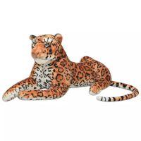 vidaXL Leopard Toy Plush Brown XXL