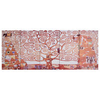 vidaXL Canvas Wall Print Set Tree Yellow 200x80 cm