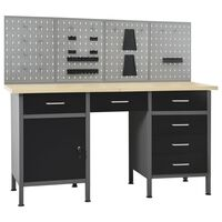 vidaXL Workbench with Four Wall Panels