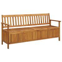 vidaXL Garden Storage Bench 170 cm Solid Acacia Wood
