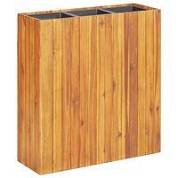 vidaXL Garden Raised Bed with 3 Pots Solid Acacia Wood