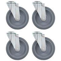 vidaXL Bolt Hole Swivel Casters 4 pcs 125 mm