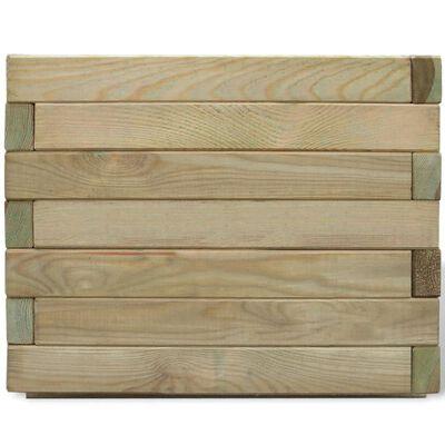vidaXL Raised Bed 50x50x40 cm Wood Square