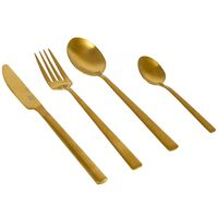 Bo-Camp 16 Piece Cutlery Set Fairbanks Gold