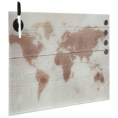 vidaXL Wall Mounted Magnetic Board Glass 40x40 cm