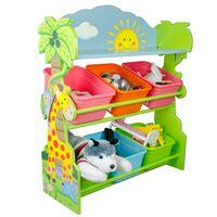 Fantasy Fields Children Blue Wooden Toy Storage Tidy Organiser TD-1224