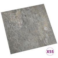 vidaXL Self-adhesive Flooring Planks 55 pcs PVC 5.11 m² Grey