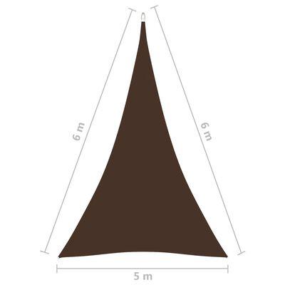vidaXL Sunshade Sail Oxford Fabric Triangular 5x6x6 m Brown