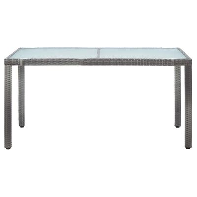 vidaXL Garden Table White 150x90x75 cm Poly Rattan