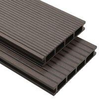 vidaXL WPC Hollow Decking Boards with Accessories 25 m² 4 m Dark Brown