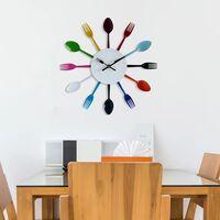 Walplus Colourful Home Cutlery Wall Clock