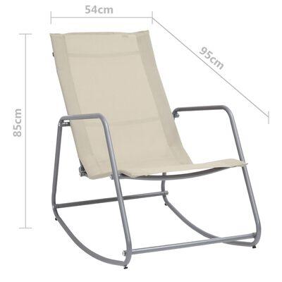 vidaXL Garden Swing Chair Cream 95x54x85 cm Textilene