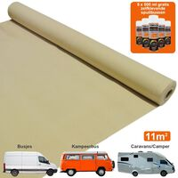 11m2 Van Lining Carpet Motor Home Adhesive Glue Cans Kit / Wheat