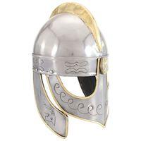 vidaXL Beowulf Helmet Antique Replica LARP Silver Steel