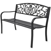 vidaXL Garden Bench 127 cm Cast Iron Black
