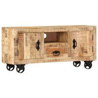 vidaXL TV Cabinet Rough Mango Wood 120x30x50 cm