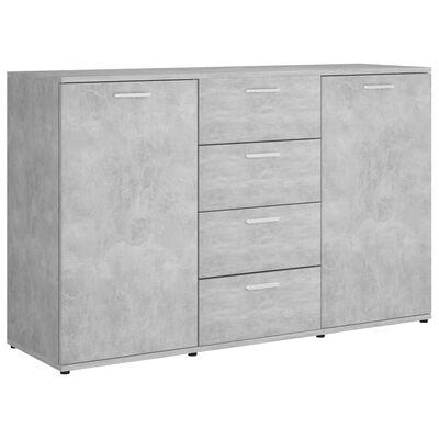vidaXL Sideboard Concrete Grey 120x35,5x75 cm Chipboard