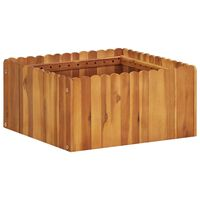 vidaXL Garden Raised Bed 50x50x25 cm Solid Acacia Wood