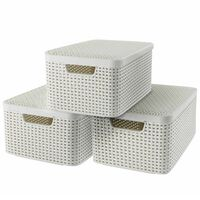 Curver Style Storage Box with Lid 3 pcs Size M White 240654