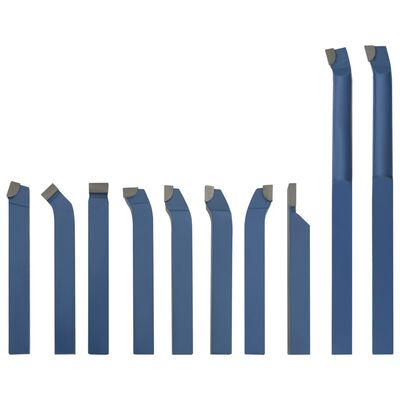 vidaXL 11 Pieces Carbide Turning Tool Set 10x10 mm P30