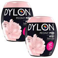 Dylon Washing Machine Fabric Dye Pod, Peony Pink, 2 Packs Of 350g