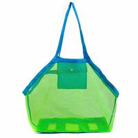 Doodle Large Mesh Multi Storage Beach Bag With Green&blue Colour
