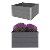 vidaXL Garden Raised Bed WPC 100x100x54 cm Grey