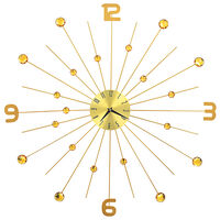 vidaXL Wall Clock Metal 70 cm Golden