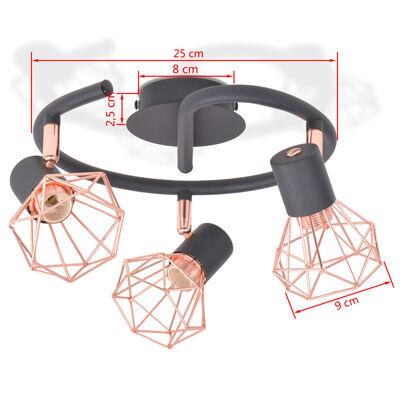 vidaXL Ceiling Lamp with 3 LED Filament Bulbs 12 W
