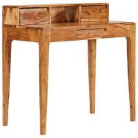 vidaXL Writing Desk with Drawers Solid Wood 88x50x90 cm