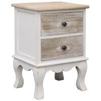 vidaXL Bedside Cabinet 35x30x50 cm Paulownia Wood