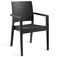 Phonetician Wicker Weave Arm Chair, Stackable - Commercial Quality