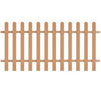 vidaXL Picket Fence WPC 200x100 cm